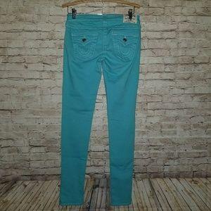 True Religion Skinny Tiffany Blue Skinny Jeans